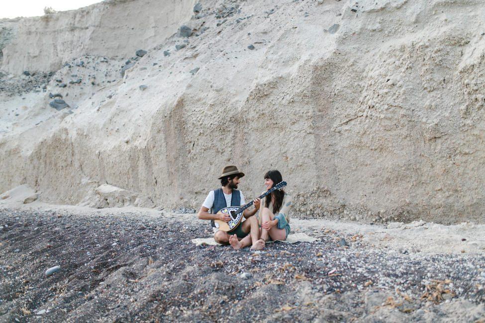 santorini elopment couple shoot