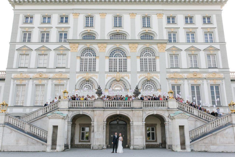 Schloss Nymphenburg Hochzeit Gruppenfoto